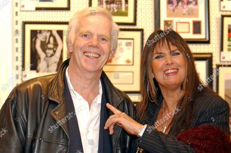 Jeremy Bulloch and Caroline Munro