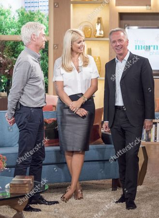 Phillip Schofield and Holly Willoughby with Peter Fincham, Director of Television for the ITV network