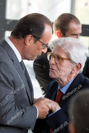 Francois Hollande and Henry Chapier