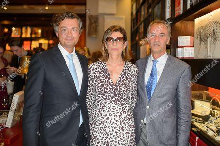 Laurent Feniou, Martine Assouline and guest