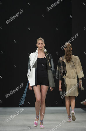 Angelina Bialy on the catwalk