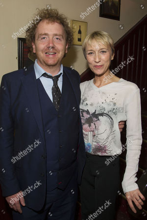 Adam Speers (Producer) and Lia Williams (Klytemnestra)