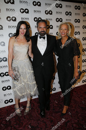 Claire Neate, Keith Tyson and Elisabeth Murdoch