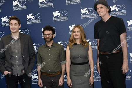 Charlie Kaufman and Duke Johnson with cast Jennifer Jason Leigh, Tom Noonan, David Thewlis