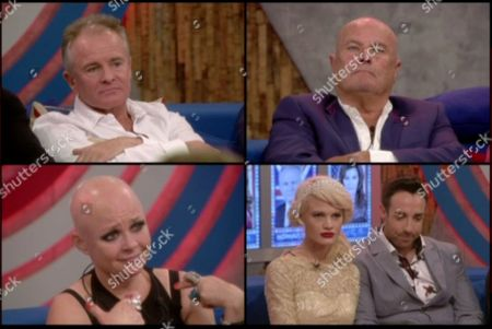 Bobby Davro, Chris Ellison, Gail Porter and Stevi Ritchie and Chloe Jasmine wait to hear who has been evicted
