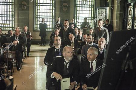 Jeremy Piven as Harry Selfrdige and Greg Austin as Gordon Selfridge.