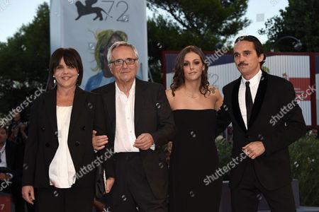 Stock Picture of Marco Bellocchio, Francesca Calvelli, Elena Bellocchio and Pier Giorgio Bellocchio
