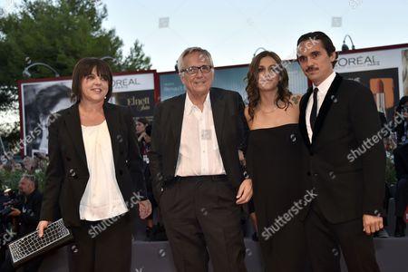 Marco Bellocchio, Francesca Calvelli, Elena Bellocchio and Pier Giorgio Bellocchio