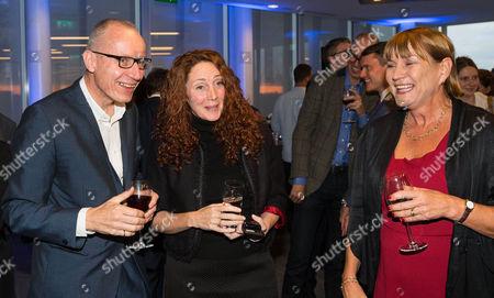 Stock Image of Robert Thomson, Chief Executive of News Corp and Rebekah Brooks, Chief executive of News Corp UK and Anji Hunter