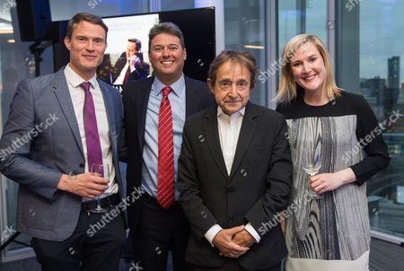 Anthony Seldon and Peter Snowdon with Katherine Patrick,Senior publicity manager and Martin Redfern, Editor