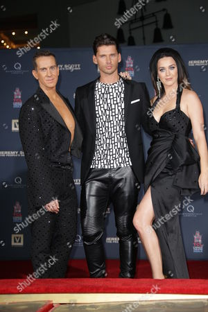 Jeremy Scott, Katy Perry and Vlad Yudin at Hand Printing ceremony