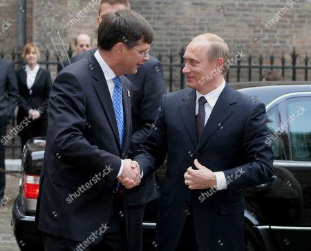 Jan Peter Balkenende and Vladimir Putin