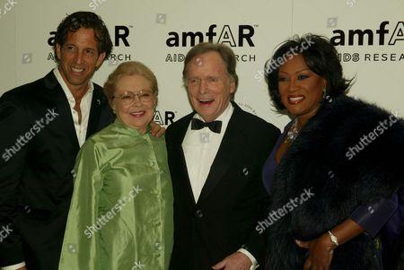 Kenneth Cole, Dr. Mathilde Krim, Dick Cavett and Patti LaBelle