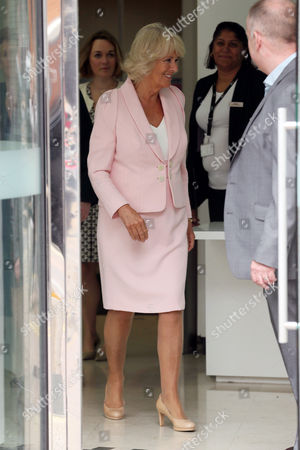 Adam Crozier and Camilla Duchess of Cornwall