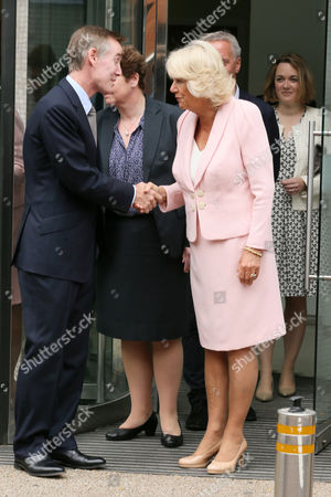 Stock Image of Adam Crozier and Camilla Duchess of Cornwall