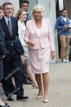 Stock Image of Archie Norman, Chairman of ITV plc and Camilla Duchess of Cornwall