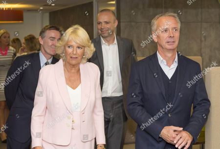 Camilla Duchess of Cornwall with CEO Adam Crozier, Managing Director ITV Studios Julian Bellamy and Director of Television Peter Fincham