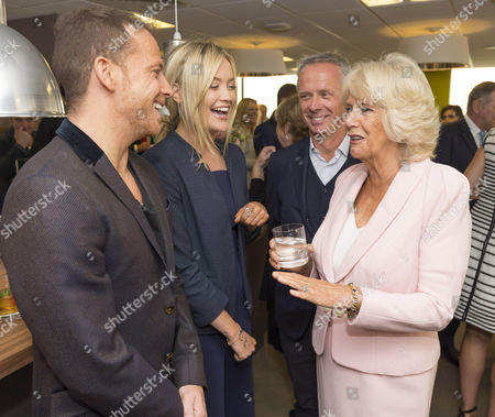 Camilla Duchess of Cornwall meets Joe Swash, Laura Whitmore and Director of Television Peter Fincham