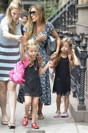 Editorial photo of Sarah Jessica Parker takes her twins to school, New York, America - 09 Sep 2015