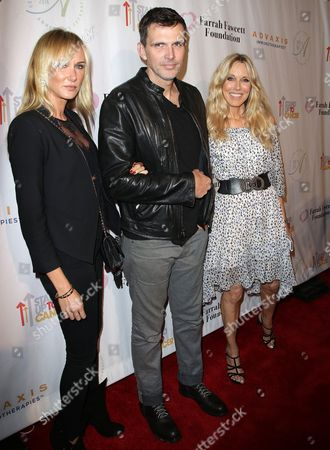 Stock Photo of Alana Stewart with Kimberly Stewart and Ashley Hamilton
