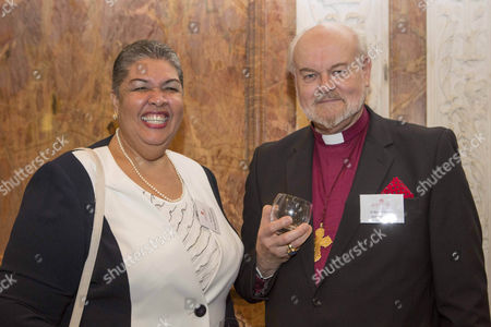 High Commissioner of Jamaica  Aloun Ndombet-Assamba and Richard Chartres the Bishop of London at The Royal Society