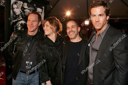Toby Emmerich, Jessica Biel, David Goyer & Ryan Reynolds
