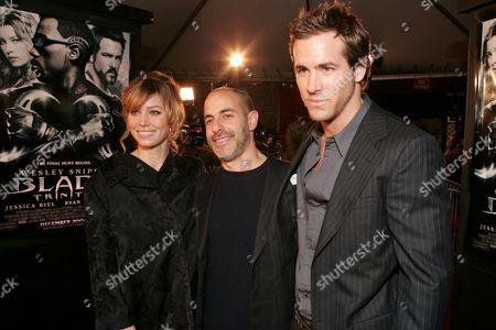 Jessica Biel, Director David Goyer and Ryan Reynolds