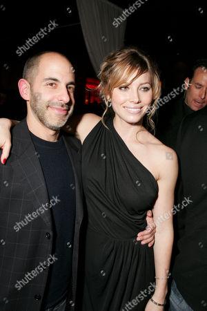 David Goyer and Jessica Biel