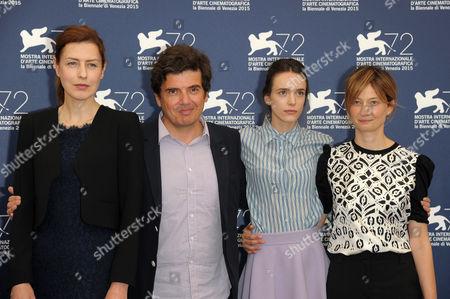 Gina Mckee, Nicolas Saada, Stacy Martin and Alba Rohrwacher