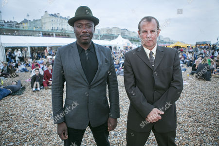 Actors Gary Shail (right) who played Spider and Trevor Laird who played Ferdy appeared at a Quadrophenia Q&A at the Big Screen on the beach on Sunday night before a screening of the seminal film, Brighton, Britain