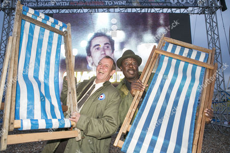 Stock Image of Actors Gary Shail (right) who played Spider and Trevor Laird who played Ferdy appeared at a Quadrophenia Q&A at the Big Screen on the beach on Sunday night before a screening of the seminal film, Brighton, Britain