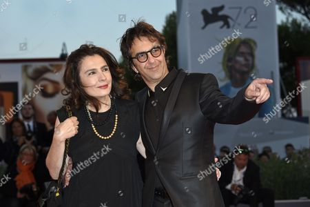 Atom Egoyan with his wife Arsinee Khanjian