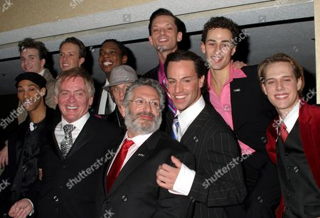 Daniel Davis, Harvey Fierstein with Les Cagelles