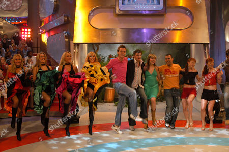 Scandi girls, presenters Stephen Mulhern, Holly Willoughby, Michael Underwood, Joe Pasquale, Cheeky Girls and Andy Newton Lee