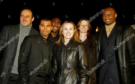 Ramon Vega, Ashley Cole, Sol Campbell, Martina Hingis, Alison Mowbray and Patrick Vieira
