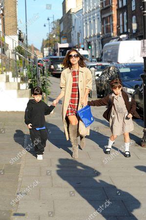 Myleene Klass with Hero Harper Quinn and Ava Bailey Quinn