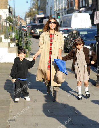 Myleene Klass with Hero Harper Quinn and Ava Bailey Quinn