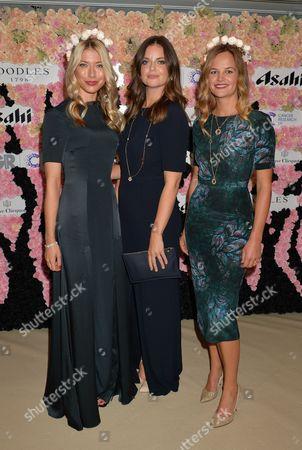 Lady Natasha Rufus-Isaacs with models wearing Beulah