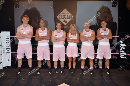 The Pink Team: Henry Head, Harry Adams, Ollie Barnett, Danielle Raper, Ollie Phillips and Chris Stewart