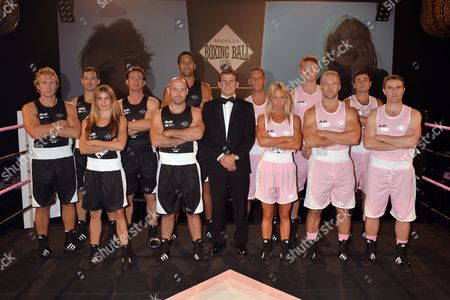 The Black Team: Will Turnage, Harry Fife, Joanne Salley, Liam Botham, David Gaule, Rob Sugden with Bear Maclean in the middle; The Pink Team: Harry Adams, Danielle Raper, Henry Head, Ollie Phillips, Chris Stewart and Ollie Barnett