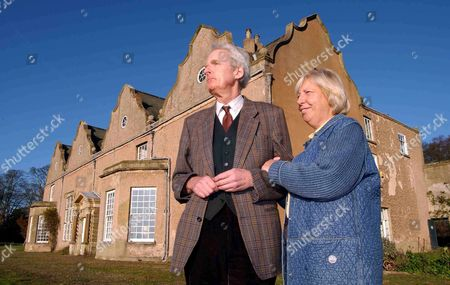 Sir James and Lady Graham outside Norton Conyers