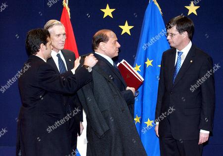 Bernard Bot with Silvio Berlusconi and Jan Peter Balkenende - 16 Dec