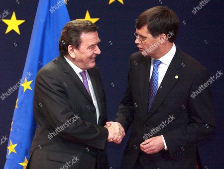 Gerhard Schroeder with Jan Peter Balkenende - 16 Dec