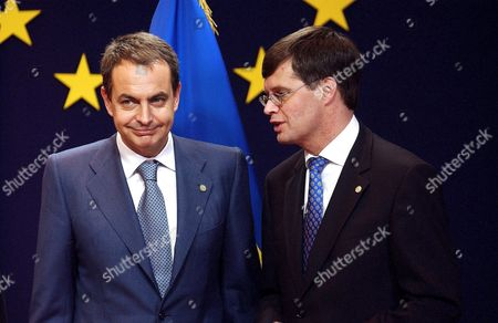 Jose Luis Rodriguez Zapatero with Jan Peter Balkenende - 16 Dec