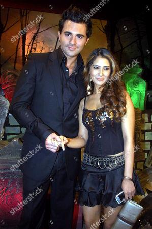 Stock Picture of Darius Danesh with actress Amrita Arora