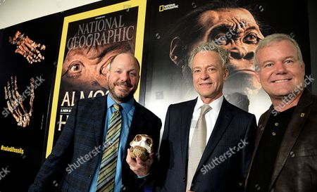 Prof Paul Dirks, Terry Garcia, Chief Science and Exploration Officer at National Geographic, and Prof Lee Berger