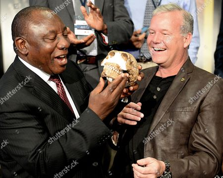 Cyril Ramaphosa and Professor Lee Berger