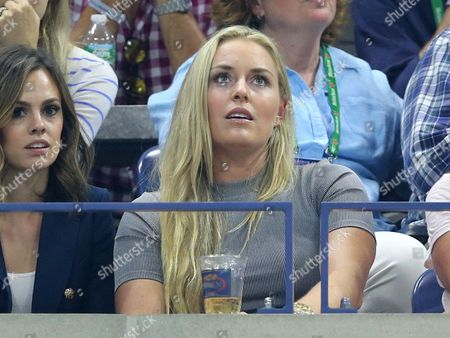 USA Alpine Skier Lindsay Vonn Watching Federer v Wawrinka Semi Final
