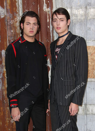 Peter Brant Jr and Harry Brant backstage