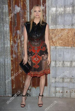Gemma Ward backstage